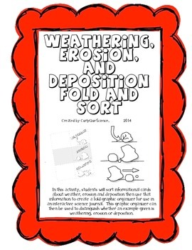Weathering, Erosion and Deposition Fold and Sort Activity