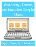 Weathering, Erosion, and Deposition Google Slides Distance Learning