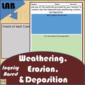 Weathering, Erosion, and Deposition Lab (Inquiry)