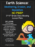 Weathering, Erosion, and Deposition NO PREP Close Reading Plans/Assessment-2-6