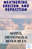 Weathering, Erosion and Deposition Notes/Drawings