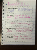 Weathering, Erosion, and Deposition Organizer