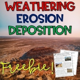 Weathering, Erosion, and Deposition Reading Comprehension Passages and Questions