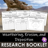 Weathering, Erosion, and Deposition- Research Booklet