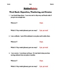 Weathering, Erosion, and Deposition Riddles