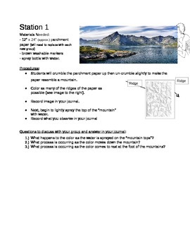 Weathering, Erosion, and Deposition Stations