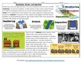 Weathering, Erosion, and Deposition Worksheet