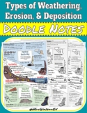 """Weathering Types, Erosion, and Deposition """"Doodle"""" Style Notes"""