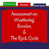 Weathering, Erosion, & Rock Cycle Test for a GEOLOGY UNIT