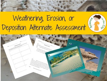 Weathering, Erosion, and Deposition Assessment Activity