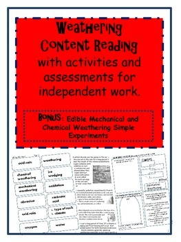 Weathering Content Reading with Activities and Assessments