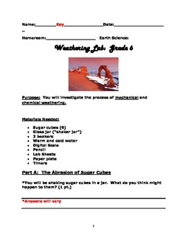 Weathering Lab: Chemical and Mechanical