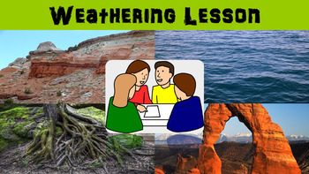 Weathering No Prep Lesson with Power Point, Worksheet, and Word Search