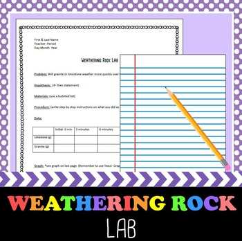 Weathering Rock Lab