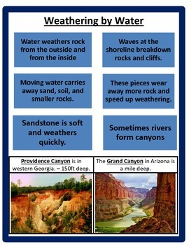 Weathering STUDY GUIDE 3rd Science