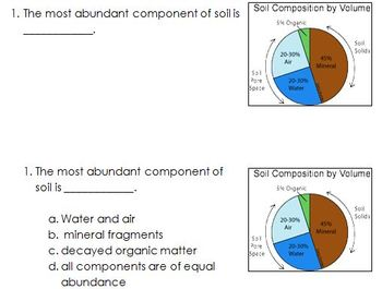 Weathering, Soil, and Erosion review - differentiated question sets