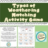 Physical and Chemical Weathering Worksheet Activity