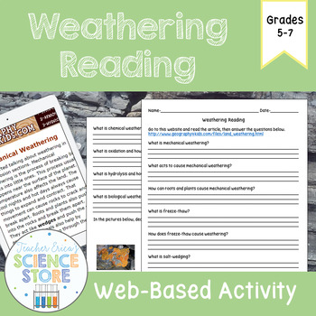 Weathering Web-Quest Reading Activity