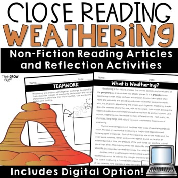 Weathering and Deposition Nonfiction Close Reading