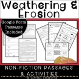 Weathering and Erosion Reading Passages and Worksheets