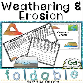 Weathering and Erosion Informational Flip Book