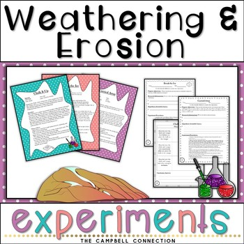 Weathering and Erosion Experiments