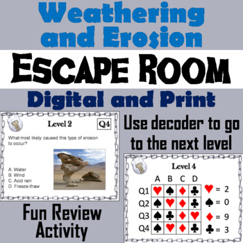 Weathering and Erosion Activity: Escape Room - Science
