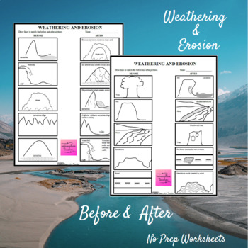 Weathering and Erosion Before and After Worksheet