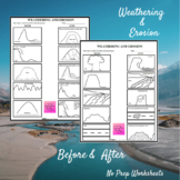 Weathering and Erosion Before and After Worksheet (Distanc