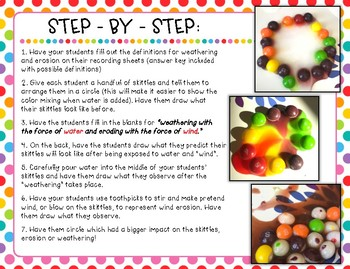 Weathering and Erosion Candy Experiment