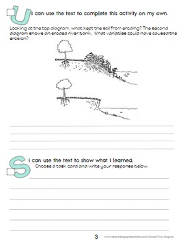 Weathering and Erosion Close Reading Evidence and Text Dependent Packet
