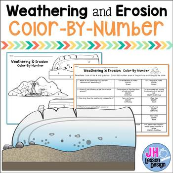 Weathering and Erosion Color-By-Number