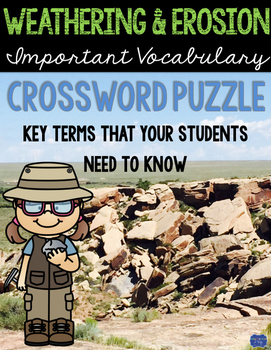 Weathering and Erosion Crossword