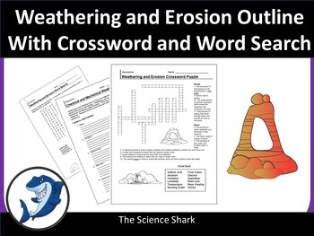 Weathering and Erosion Crossword and Word Search