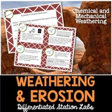 Weathering and Erosion Student-Led Station Lab - Distance Learning