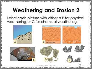 Earth Science Warm ups or Bell Ringers: Weathering and Erosion