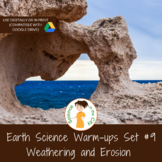 Weathering and Erosion Exit Ticket or Bell Ringer Task Card Set