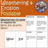 Weathering and Erosion Foldable (Wind, Ice, Gravity, Water)