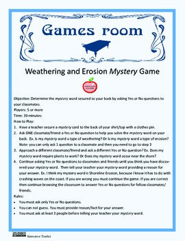Weathering and Erosion Games