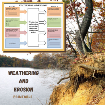 Weathering and Erosion Graphic Organizer - Cause and Effect