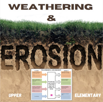 Weathering and Erosion Graphic Organizer - Cause and Effect | TpT