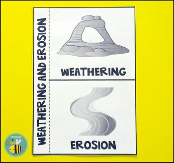 Weathering and Erosion-Interactive science notebook foldable