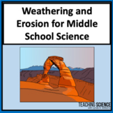 Weathering and Erosion Lab and Close Read for Middle School MS-ESS2-2