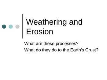 Weathering and Erosion Lesson 15