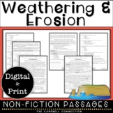 Weathering and Erosion Nonfiction Reading Comprehension Passages and Questions