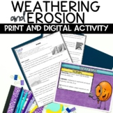 Weathering and Erosion Nonfiction Reading Informative Text