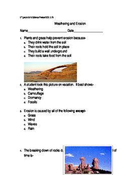Weathering and Erosion Quiz