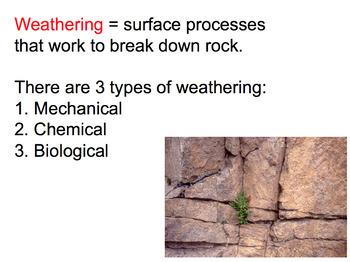 Weathering and Erosion SMART board presentation