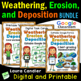 Weathering and Erosion Task Cards Bundle (with Google Clas