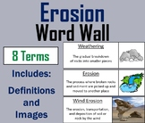 Weathering and Erosion Word Wall Cards